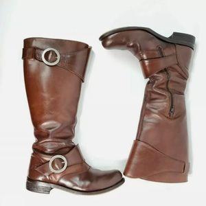 John Fluevog Adrians Heidi Brown Leather Boots